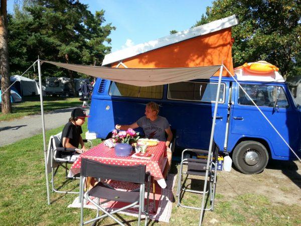 lekker ontbijtje voor de T2 camper