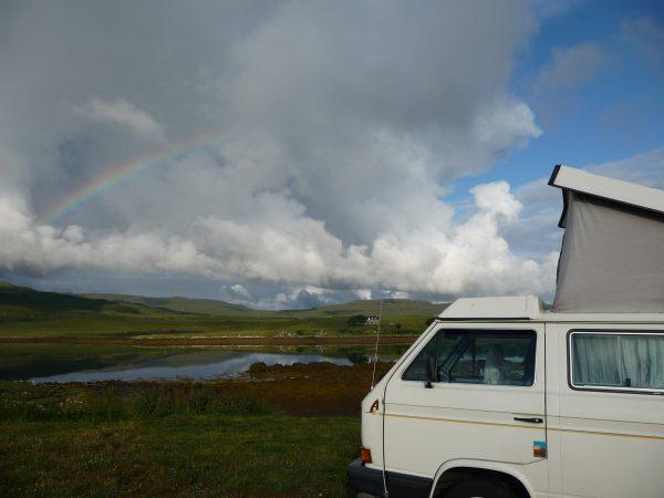 Westfalia T3 hefdak camper in mooi landschap