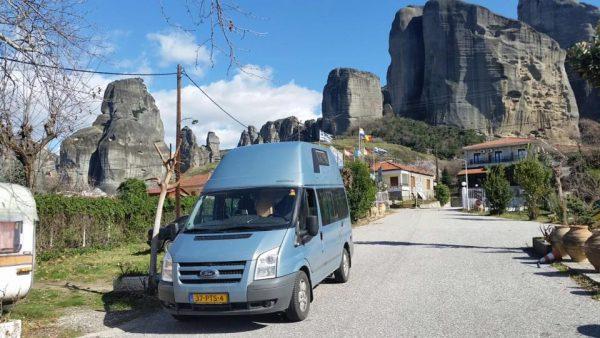 onze Ford Nugget onderweg in de bergen van frankrijk